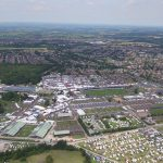 Overhead image of the Great Yorkshire Showground